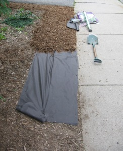 Landscape fabric and mulch