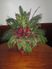 Winter evergreen arrangement